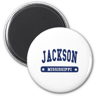 Jackson Mississippi College Style tee shirts 2 Inch Round Magnet