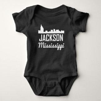 Jackson Mississippi Skyline Baby Bodysuit