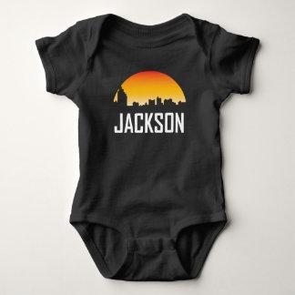 Jackson Mississippi Sunset Skyline Baby Bodysuit