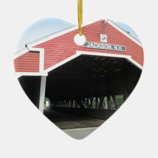 Jackson NH Covered Bridge Ceramic Ornament