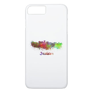 Jackson skyline in watercolor iPhone 8 plus/7 plus case