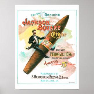 Jackson Square Cigar Poster