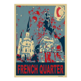 Jackson Square in Blue Poster