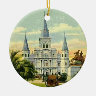 Jackson Square New Orleans Ceramic Ornament