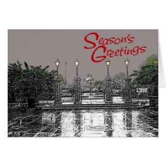 Jackson Square Seasons Greetings Three Card