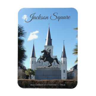 Jackson Statue, St. Louis Cathedral Jackson Square Magnet