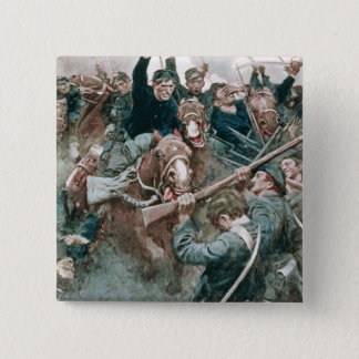 Jackson's Brigade Standing Like a Stone Wall 2 Inch Square Button