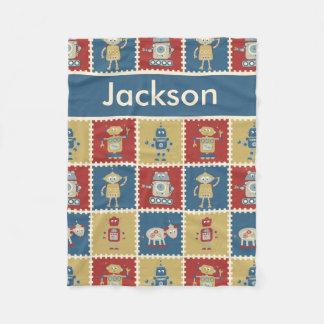 Jackson's Personalized Robot Blanket