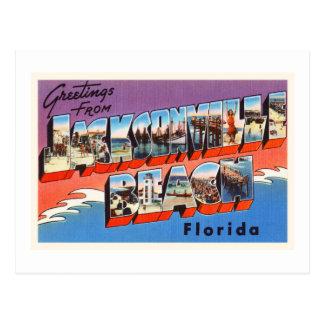 Jacksonville Beach Florida FL Old Travel Souvenir Postcard