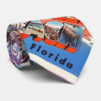 Jacksonville Beach Florida FL Old Travel Souvenir Tie