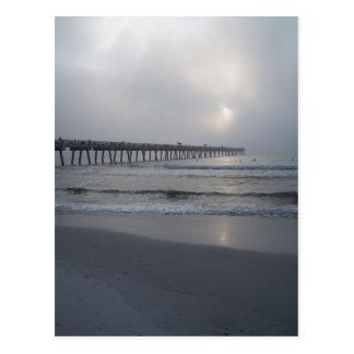 Jacksonville Beach, Florida. Sunrise/Fog Postcard