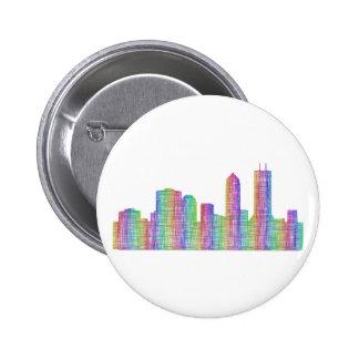 Jacksonville city skyline 2 inch round button
