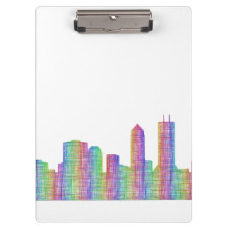 Jacksonville city skyline clipboard