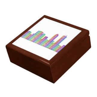 Jacksonville city skyline gift box