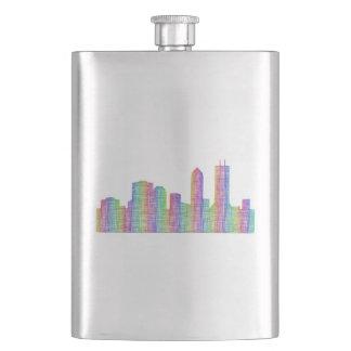Jacksonville city skyline hip flask
