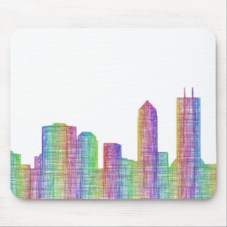 Jacksonville city skyline mouse pad