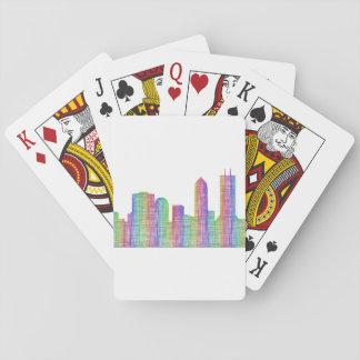 Jacksonville city skyline playing cards