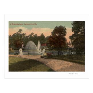 Jacksonville, FL - View of Riverside Postcard