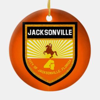 Jacksonville  Flag Ceramic Ornament