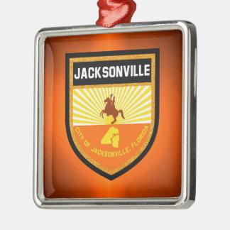 Jacksonville  Flag Metal Ornament