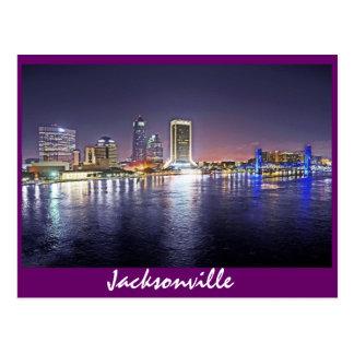 Jacksonville, Florida at night Postcard