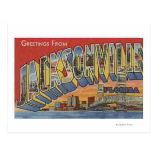 Jacksonville, Florida - Large Letter Scenes Postcard