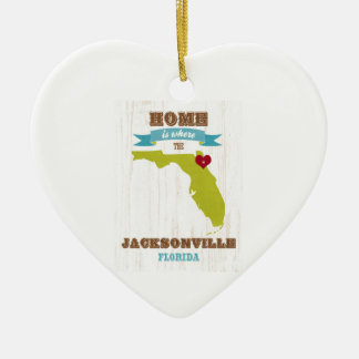 Jacksonville, Florida Map – Home Is Where Ceramic Ornament