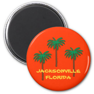 JACKSONVILLE, FLORIDA palm tree fridge magnet