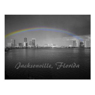 Jacksonville, Florida Rainbow Postcard