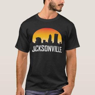Jacksonville Florida Sunset Skyline T-Shirt