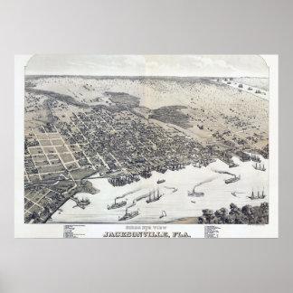 Jacksonville Florida Vintage Poster