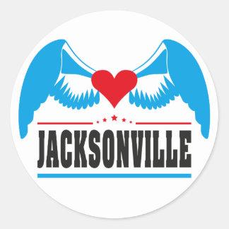 Jacksonville Round Sticker