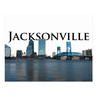 Jacksonville Skyline with Jacksonville in the Sky Postcard