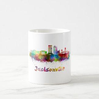 Jacksonville V2 skyline in watercolor Coffee Mug