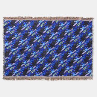 JACKY's MONOPOSTO - digitally Artwork by JLG Throw Blanket