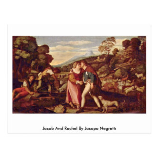Jacob And Rachel By Jacopo Negretti Postcard