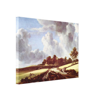 Jacob Isaackszoon van Ruisdael - Wheat fields Stretched Canvas Prints