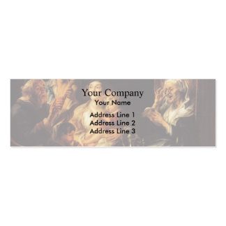 Jacob Jordaens- As the Old Sang, So the young Pipe Business Cards