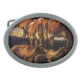 Jacob Jordaens- Five studies of cows Belt Buckle