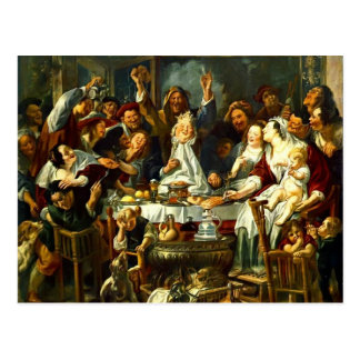 Jacob Jordaens- The King Drinks Postcard