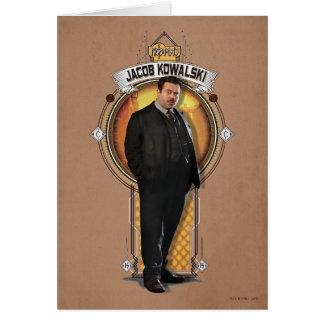 Jacob Kowalski Art Deco Panel Card