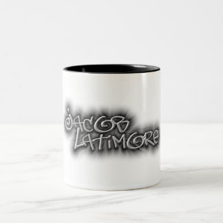 Jacob Latimore Two Tone Signature Logo Coffee Mug