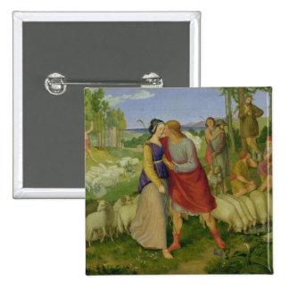 Jacob Meets Rachel, 1827 2 Inch Square Button