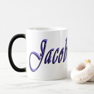 Jacob Name Logo , Magic Mug