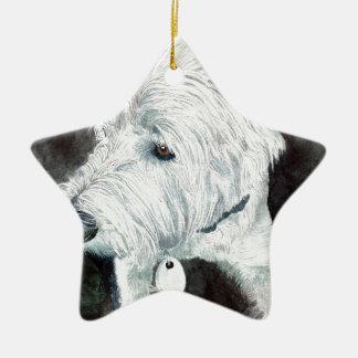 Jacob the Westie Ceramic Star Ornament