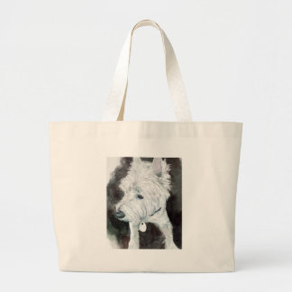 Jacob the Westie Large Tote Bag