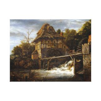 Jacob van Ruisdael Two Undershot Watermills Canvas Print