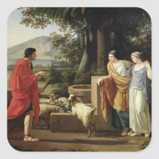 Jacob with the Daughters of Laban, 1787 Square Stickers