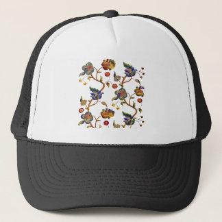 Jacobean Embroidered Albemarle Pattern Trucker Hat