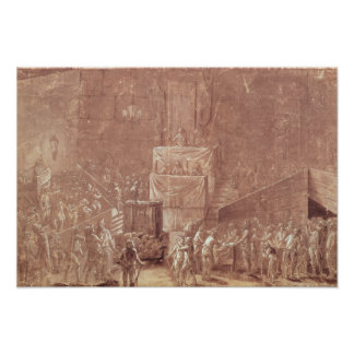 Jacobin Club During the Revolution Poster